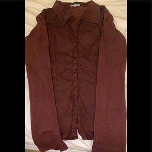 James Perse wine color blouse